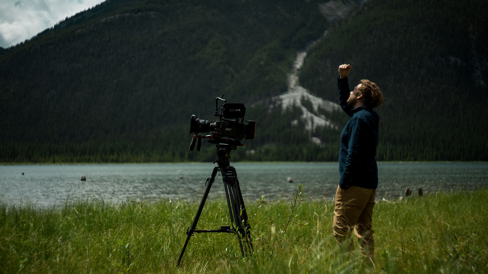Colin Waugh filming with an Arri Alexa in Canmore Alberta