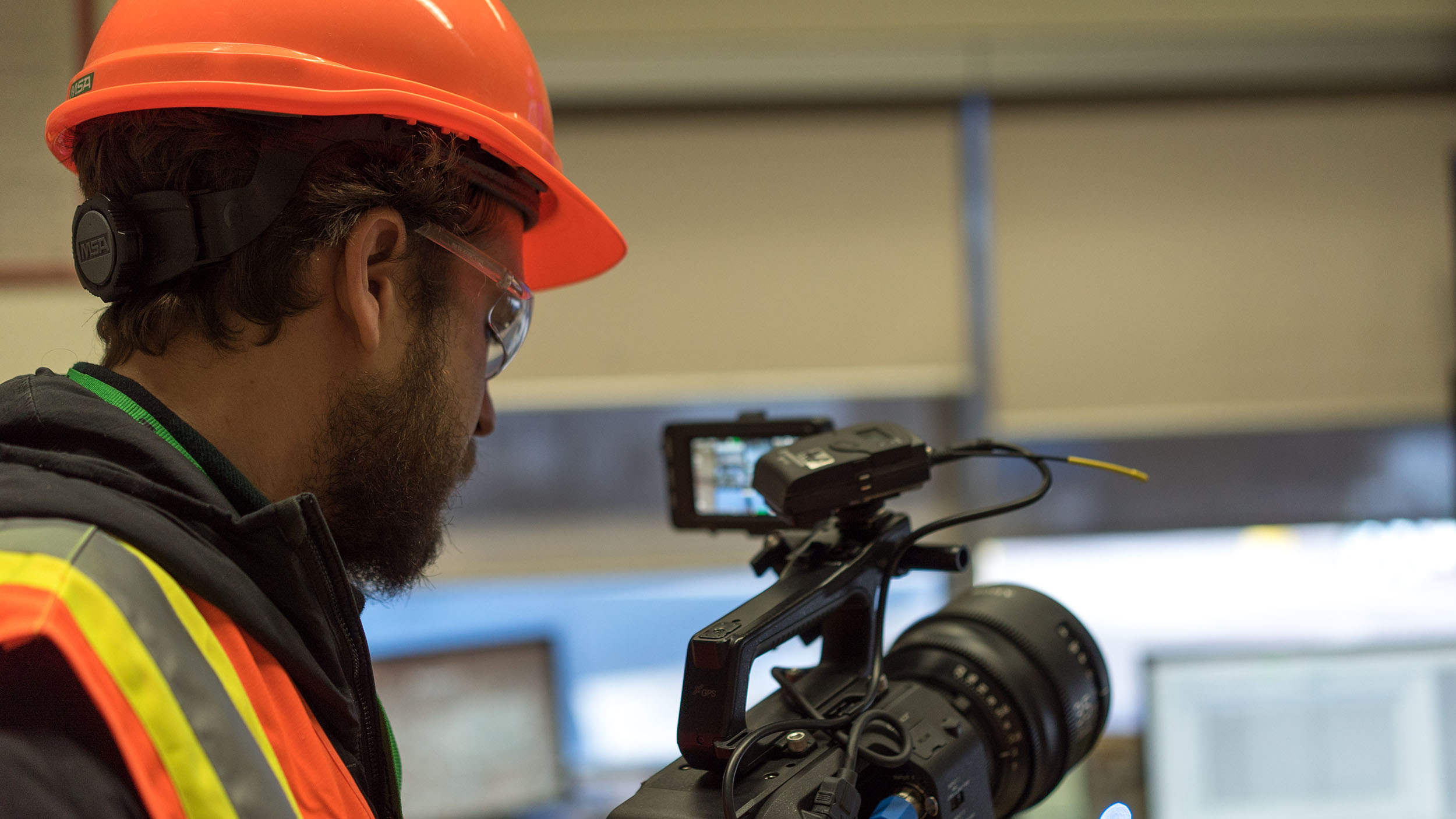 Video production at Edmonton cement facility