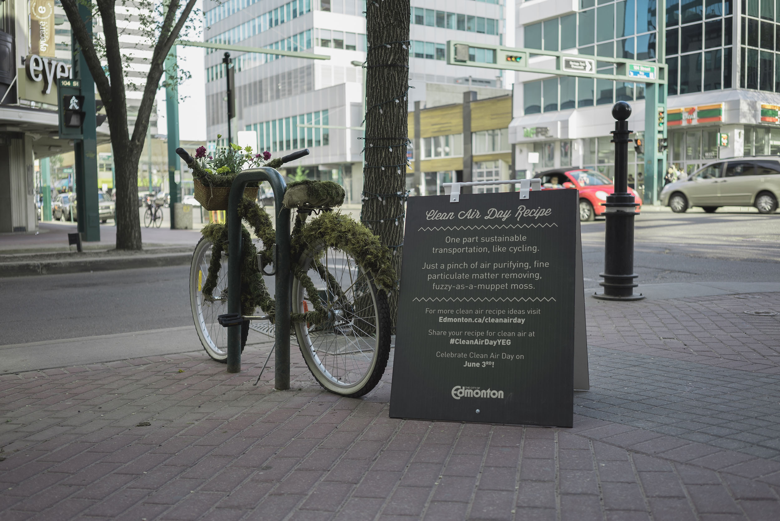 Moss bike advertising campaign in Edmonton
