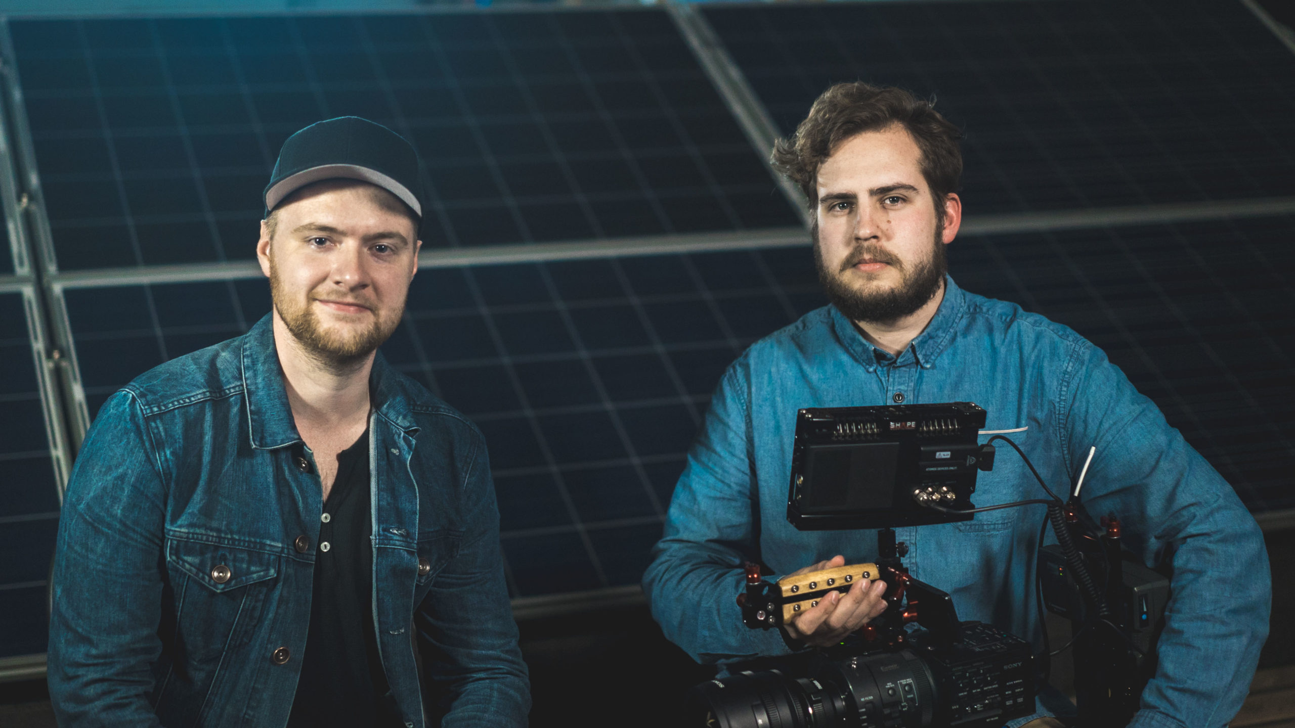 Jordan Bloemen + Colin Waugh filming the web series Renewable